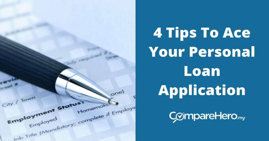 tips for personal loan application