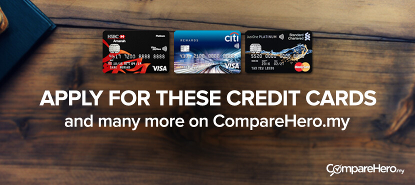 Compare Credit Cards at CompareHero.my Today