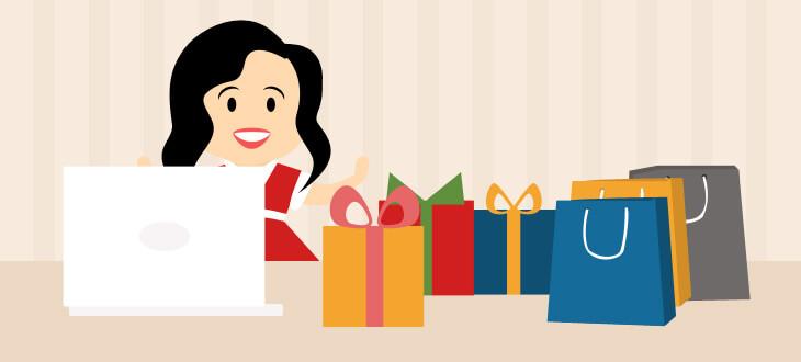 Online shopping for Christmas gift