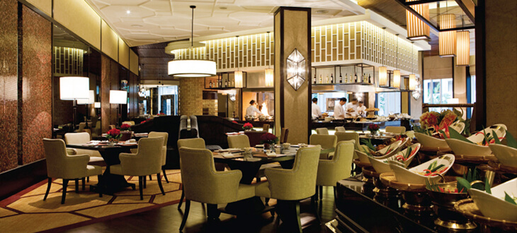 Dining area at Contango, The Majestic Hotel Kuala Lumpur