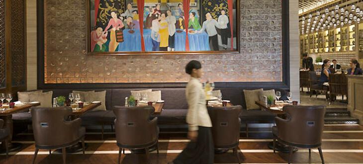 Dining area at Mosaic Mandarin Oriental Kuala Lumpur