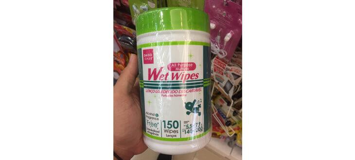 Multipurpose wet wipes