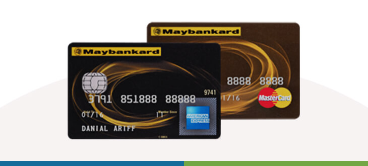 Maybank 2 Cards Gold Amex and MasterCard credit card