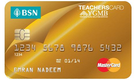 BSN 1 TeachersCard Mastercard Credit Card-i MasterCard