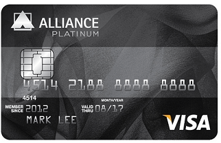 Alliance Bank Visa Platinum credit card