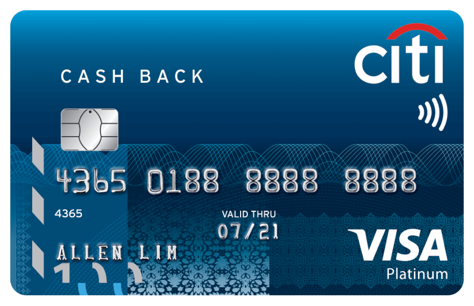 Citi Cash Back Visa Platinum credit card