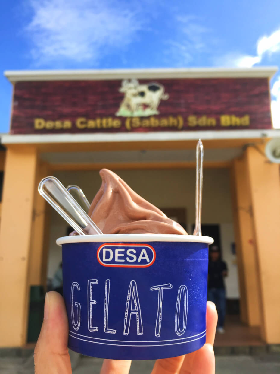 Don't forget to grab a cup gelato made from the local cow's milk while you are there.