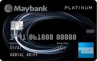 Maybank 2 Cards Platinum Amex credit card