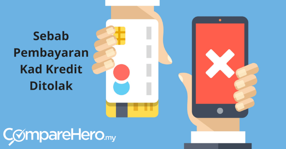 Sebab Pembayaran Kad Kredit Ditolak