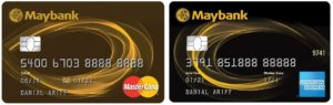 maybank 2 cards mastercard american express credit cards