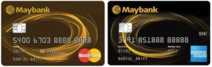 maybank 2 cards mastercard american express credit cards