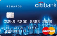 Citibank Rewards MasterCard credit card