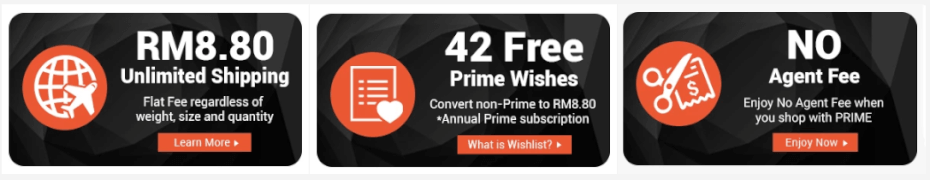 ezbuy 42 free prime wishes banner