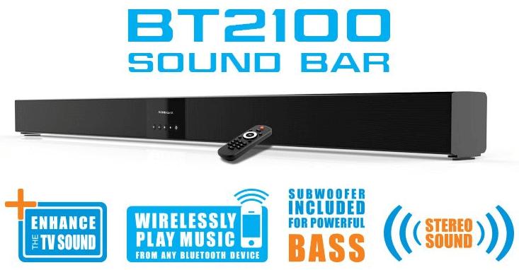 免费SonicGear BT2100 Soundbar 和重低音音箱
