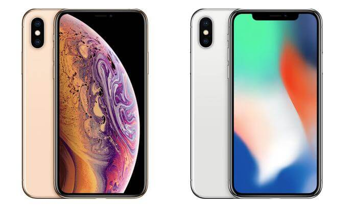 iPhone X comparison iPhone XS