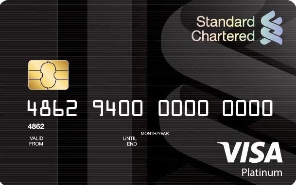 Standard Chartered Visa Platinum rewards credit card
