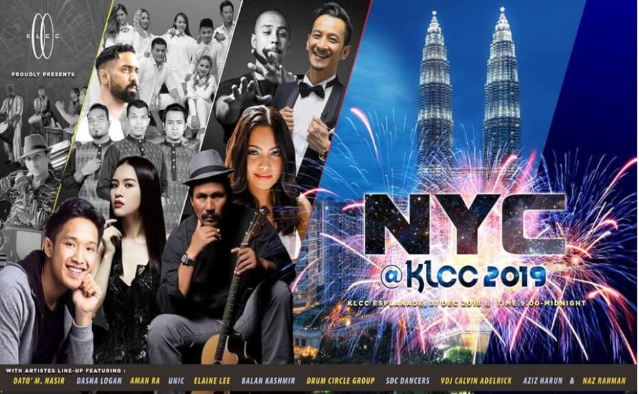 new year eve celebration at KLCC park