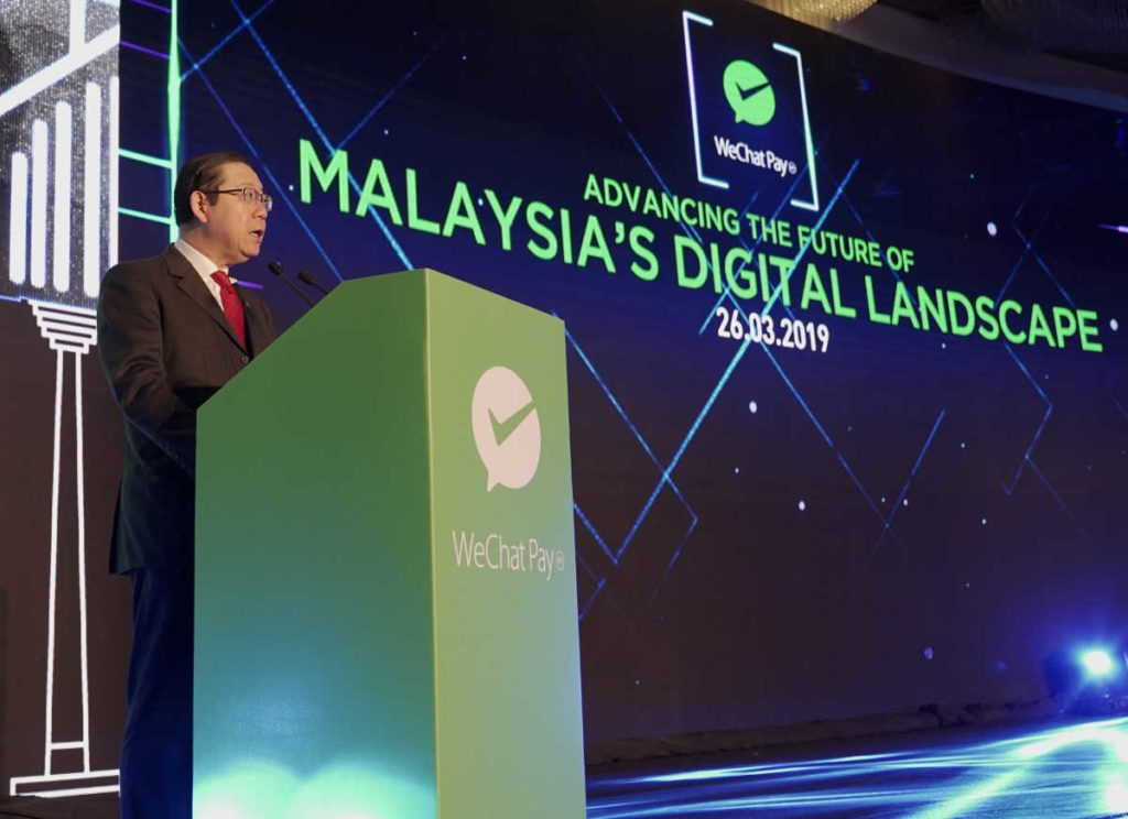 WeChat Pay Malaysia officiated by Finance Minister YB Lim Guan Eng