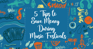how to go music festivals on a budget