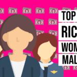 10 richest Malaysian women infographic
