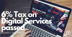 6% digital tax in malaysia from 1 Jan 2020