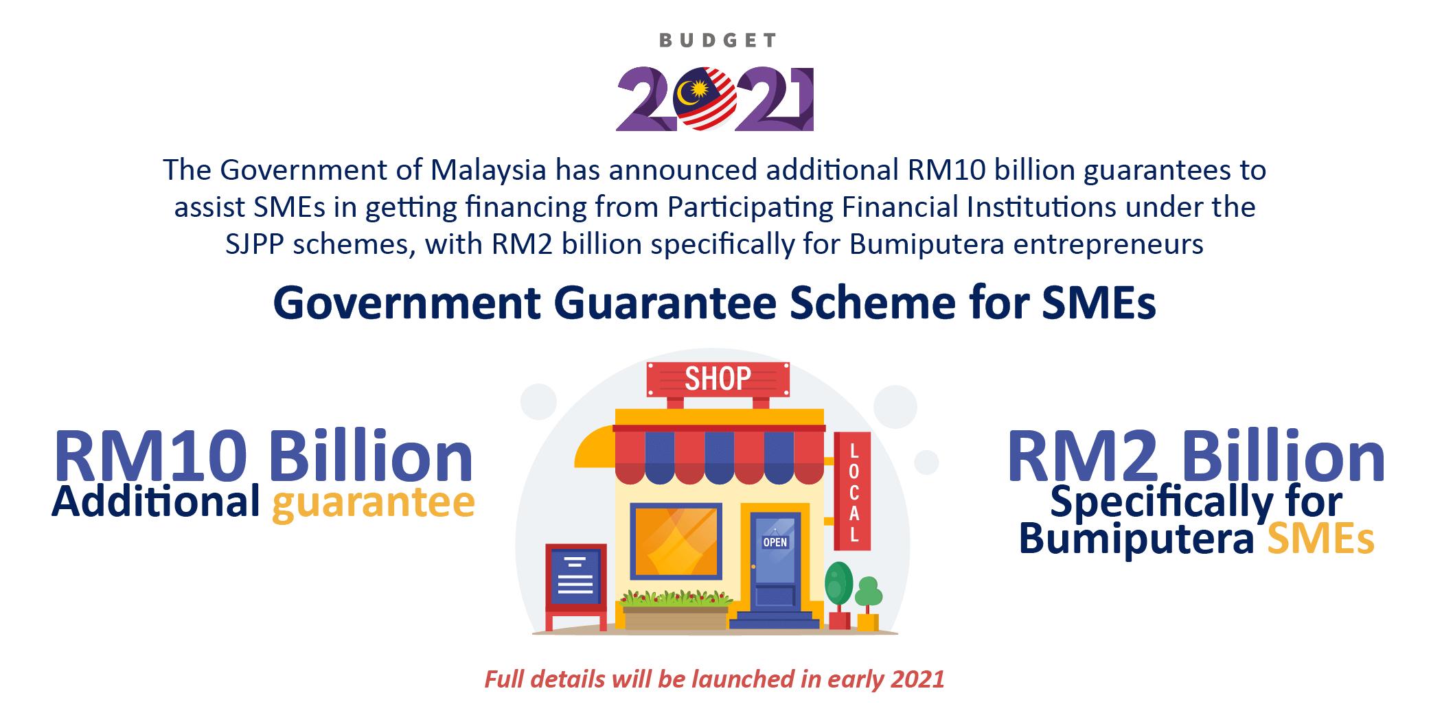 2021 budget government guarantee scheme for smes